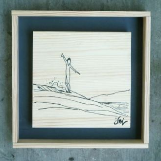 CHASED BY THE SUN 20x20 120€