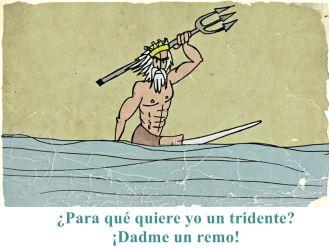 Fue una civilización con una gran cantidad de deidades. El dios de los mares era Poseidón, cargando siempre con su tridente y azotando el mar cuando se rebotaba.