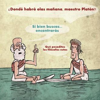 Platón, era otro... Todo el día hablando de su cueva junto al mar. No revelaba a nadie sus spots secretos.