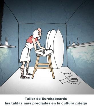 """Arquímedes es el padre de todos los shapers. De él es el tratado """"Sobre los cuerpos flotantes"""", donde explica el principio de hidrostática, más conocido como Principio de Arquímedes. Nadie hacía tablas como él."""