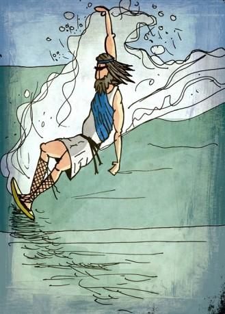 Los griegos, como no podía ser de otra manera, eran amantes del surf clásico.