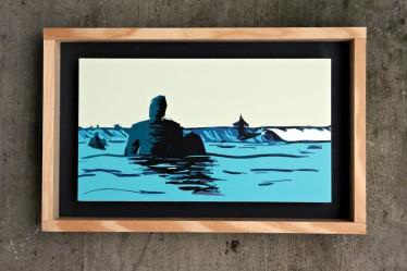 BLUE HANG 30x17cm 105€